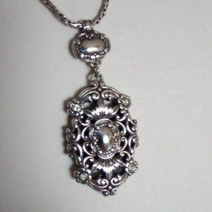 Brighton Reversible Crest Necklace Crystal